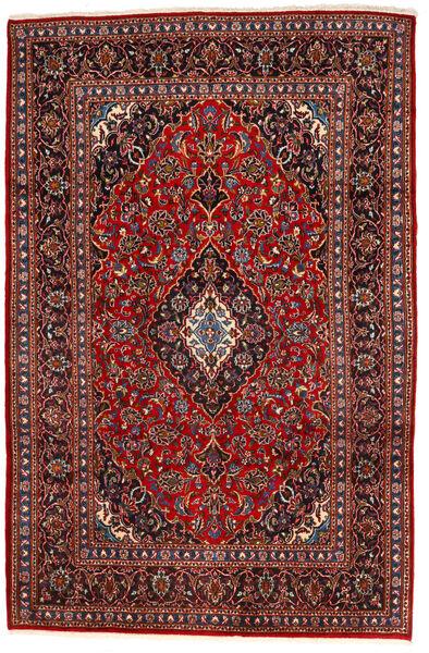 Keshan Matto 195X294 Itämainen Käsinsolmittu Tummanpunainen/Musta (Villa, Persia/Iran)