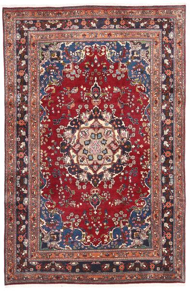 Mashad Matto 200X308 Itämainen Käsinsolmittu Tummanpunainen/Tummanvioletti (Villa, Persia/Iran)