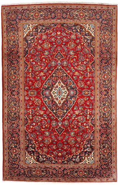 Keshan Matto 200X309 Itämainen Käsinsolmittu Tummanpunainen/Ruoste (Villa, Persia/Iran)