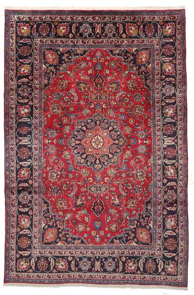 Mashad Matto 195X292 Itämainen Käsinsolmittu Tummanvioletti/Punainen (Villa, Persia/Iran)