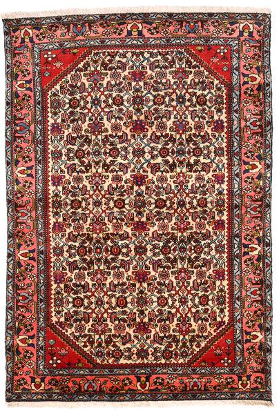 Hamadan Matto 131X194 Itämainen Käsinsolmittu Tummanruskea/Beige (Villa, Persia/Iran)