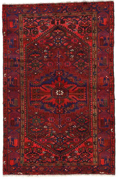 Zanjan Matto 140X213 Itämainen Käsinsolmittu Tummanpunainen/Musta (Villa, Persia/Iran)