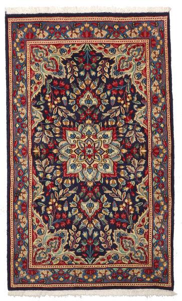 Kerman Matto 87X145 Itämainen Käsinsolmittu Tummanvioletti/Tummanpunainen (Villa, Persia/Iran)