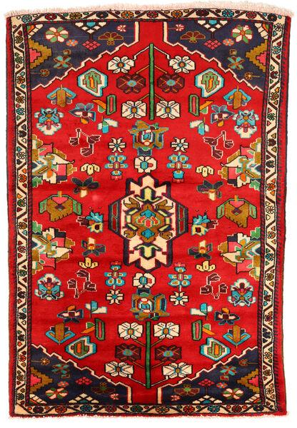 Hamadan Matto 130X191 Itämainen Käsinsolmittu Ruoste/Tummanruskea (Villa, Persia/Iran)