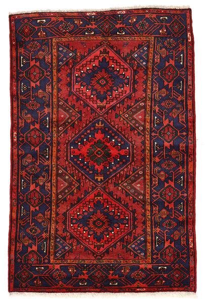 Zanjan Matto 136X208 Itämainen Käsinsolmittu Tummanvioletti/Tummanpunainen (Villa, Persia/Iran)