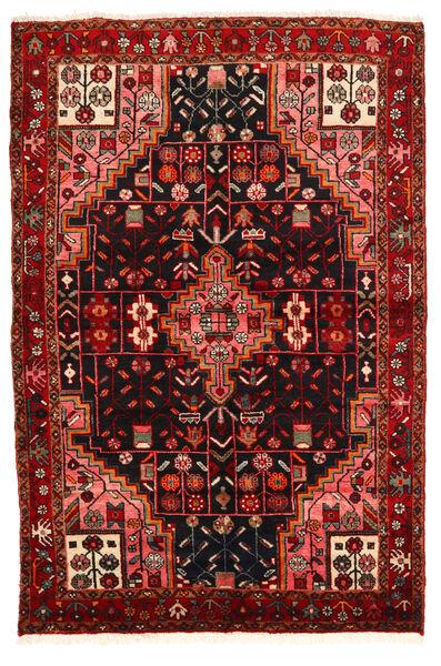 Hamadan Matto 134X199 Itämainen Käsinsolmittu Tummanruskea/Tummanpunainen (Villa, Persia/Iran)