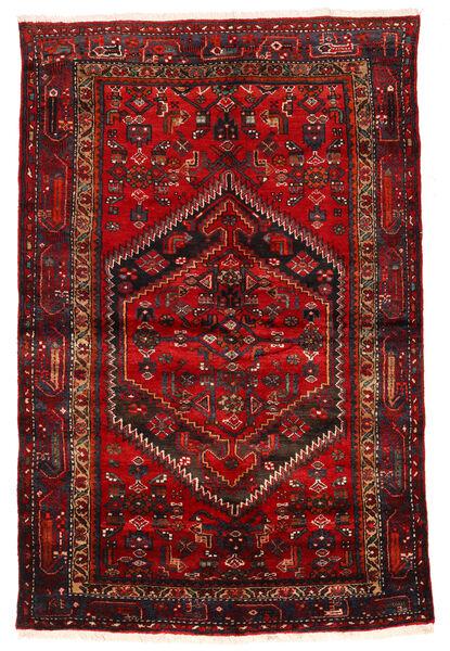 Zanjan Matto 133X203 Itämainen Käsinsolmittu Tummanpunainen/Tummanruskea/Ruoste (Villa, Persia/Iran)