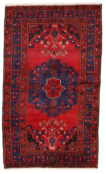 Zanjan Matto 126X216 Itämainen Käsinsolmittu Tummanvioletti/Tummanpunainen (Villa, Persia/Iran)