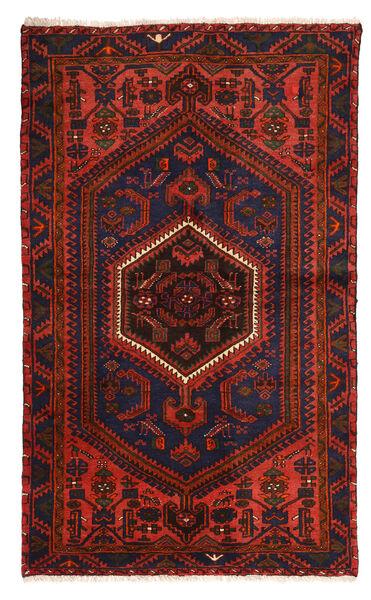 Zanjan Matto 128X214 Itämainen Käsinsolmittu Tummanpunainen/Tummanruskea (Villa, Persia/Iran)
