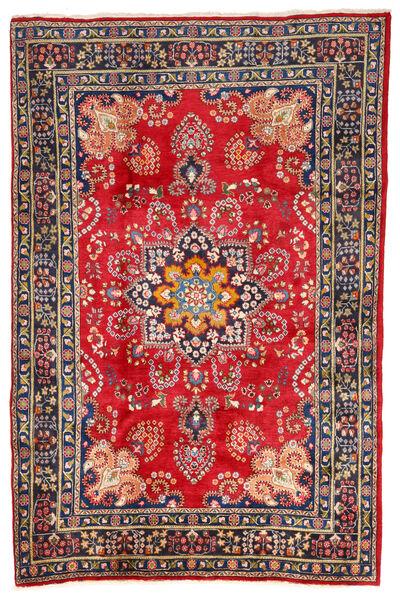 Mashad Matto 196X288 Itämainen Käsinsolmittu Tummanharmaa/Ruoste (Villa, Persia/Iran)