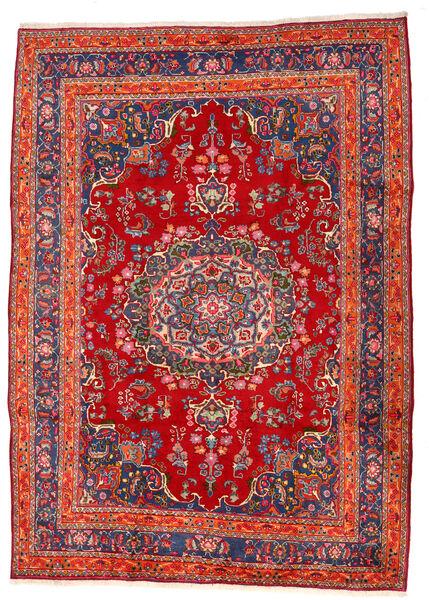 Mashad Matto 207X290 Itämainen Käsinsolmittu Ruoste/Tummanpunainen (Villa, Persia/Iran)