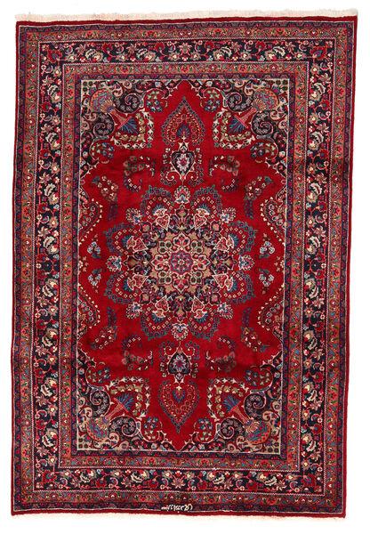 Mashad Matto 200X294 Itämainen Käsinsolmittu Tummanpunainen/Tummansininen (Villa, Persia/Iran)