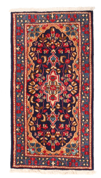 Kerman Matto 64X121 Itämainen Käsinsolmittu Tummanvioletti/Tummanpunainen (Villa, Persia/Iran)