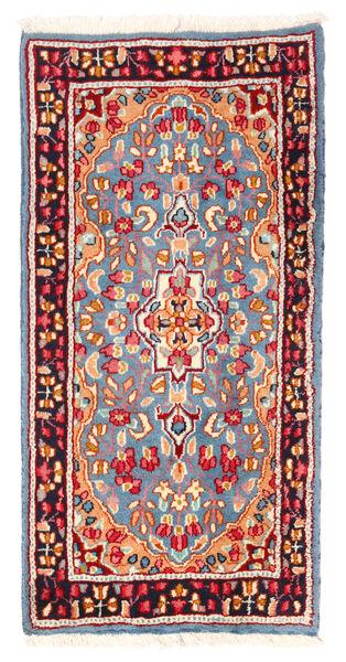 Kerman Matto 59X119 Itämainen Käsinsolmittu Vaaleansininen/Beige (Villa, Persia/Iran)