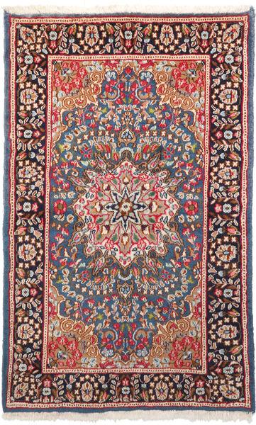 Kerman Matto 94X153 Itämainen Käsinsolmittu Tummanpunainen/Tummanharmaa (Villa, Persia/Iran)