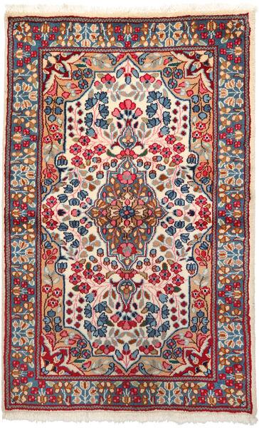 Kerman Matto 91X154 Itämainen Käsinsolmittu Tummanpunainen/Beige (Villa, Persia/Iran)