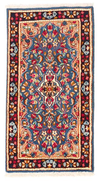 Kerman Matto 64X119 Itämainen Käsinsolmittu Sininen/Beige (Villa, Persia/Iran)