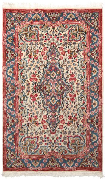 Kerman Matto 88X147 Itämainen Käsinsolmittu Tummanharmaa/Tummanpunainen (Villa, Persia/Iran)