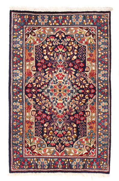Kerman Matto 92X147 Itämainen Käsinsolmittu Tummanpunainen/Musta (Villa, Persia/Iran)