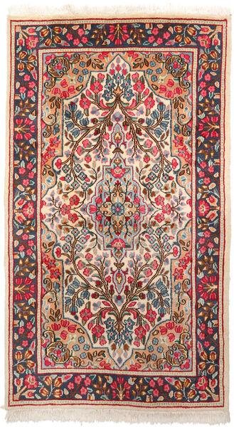 Kerman Matto 87X155 Itämainen Käsinsolmittu Tummanharmaa/Beige (Villa, Persia/Iran)