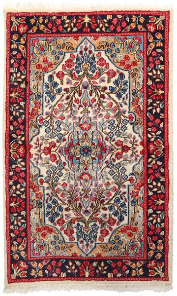 Kerman Matto 92X151 Itämainen Käsinsolmittu Tummanpunainen/Tummanvioletti (Villa, Persia/Iran)