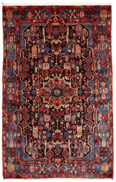 Nahavand Old Matto 151X240 Itämainen Käsinsolmittu Tummanpunainen (Villa, Persia/Iran)