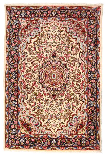 Kerman Matto 193X290 Itämainen Käsinsolmittu Beige/Tummanpunainen (Villa, Persia/Iran)