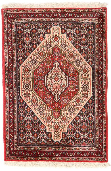 Senneh Matto 72X105 Itämainen Käsinsolmittu Tummanruskea/Tummanpunainen (Villa, Persia/Iran)