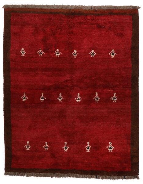 Gabbeh Persia Matto 155X190 Moderni Käsinsolmittu Tummanpunainen/Punainen (Villa, Persia/Iran)