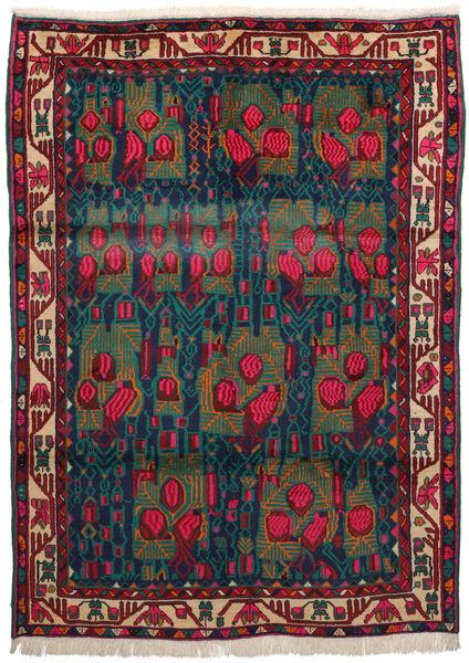 Afshar Matto 163X228 Itämainen Käsinsolmittu Tummanpunainen/Tummansininen/Tumma Turkoosi (Villa, Persia/Iran)