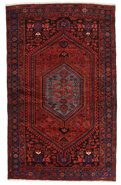 Zanjan Matto 139X224 Itämainen Käsinsolmittu Tummanpunainen (Villa, Persia/Iran)