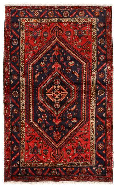 Zanjan Matto 141X227 Itämainen Käsinsolmittu Tummanpunainen/Ruoste (Villa, Persia/Iran)