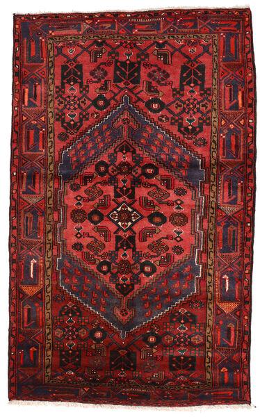 Zanjan Matto 147X240 Itämainen Käsinsolmittu Tummanpunainen/Musta (Villa, Persia/Iran)