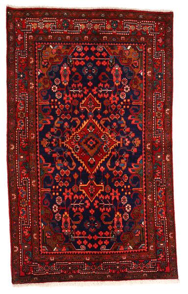 Hamadan Matto 130X214 Itämainen Käsinsolmittu Tummanpunainen/Tummanruskea/Ruoste (Villa, Persia/Iran)