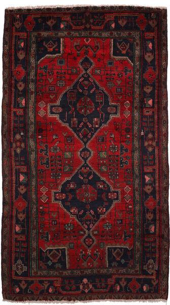 Koliai Matto 150X280 Itämainen Käsinsolmittu Musta/Tummanpunainen (Villa, Persia/Iran)