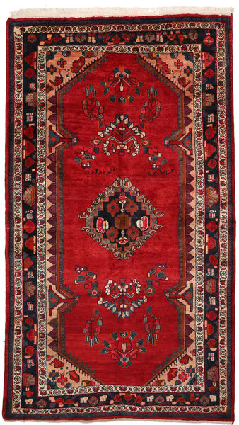 Kurdi Matto 155X293 Itämainen Käsinsolmittu Käytävämatto Ruoste/Tummanpunainen (Villa, Persia/Iran)