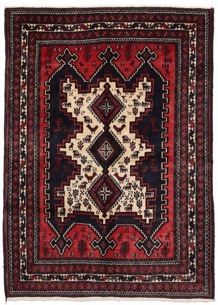 Afshar Matto 156X215 Itämainen Käsinsolmittu Tummanpunainen (Villa, Persia/Iran)