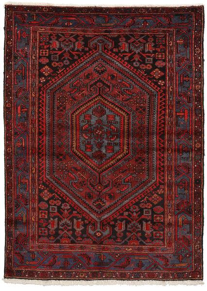 Zanjan Matto 150X207 Itämainen Käsinsolmittu Tummanpunainen/Tummanruskea (Villa, Persia/Iran)
