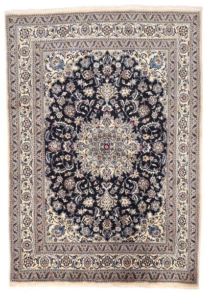 Nain Matto 166X238 Itämainen Käsinsolmittu Vaaleanharmaa/Tummanvioletti (Villa, Persia/Iran)