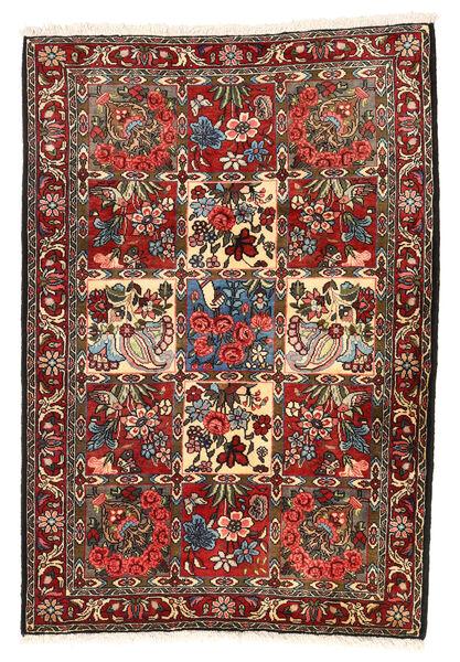 Bakhtiar Collectible Matto 106X154 Itämainen Käsinsolmittu Tummanruskea/Tummanpunainen (Villa, Persia/Iran)