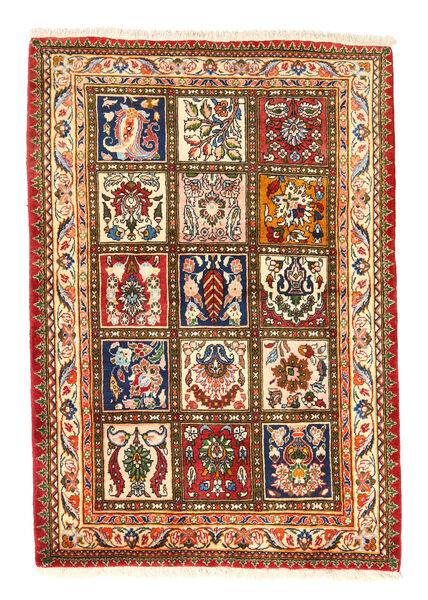 Bakhtiar Collectible Matto 105X150 Itämainen Käsinsolmittu Punainen/Tummanbeige (Villa, Persia/Iran)