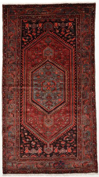 Zanjan Matto 128X236 Itämainen Käsinsolmittu Tummanpunainen (Villa, Persia/Iran)