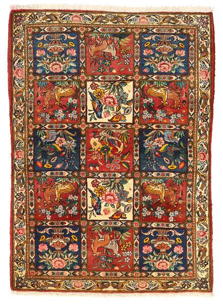Bakhtiar Collectible Matto 115X155 Itämainen Käsinsolmittu Tummanruskea/Punainen (Villa, Persia/Iran)