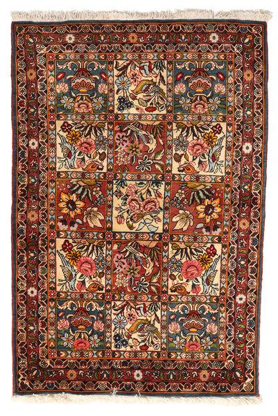 Bakhtiar Collectible Matto 102X151 Itämainen Käsinsolmittu Tummanruskea/Tummanpunainen (Villa, Persia/Iran)