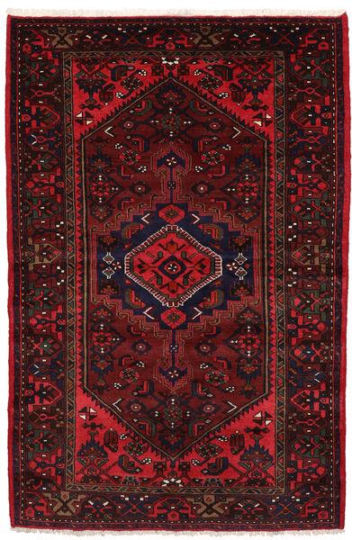 Hamadan Matto 134X210 Itämainen Käsinsolmittu Tummanpunainen (Villa, Persia/Iran)
