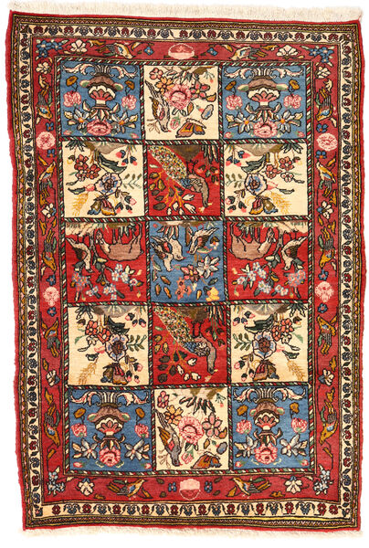 Bakhtiar Collectible Matto 102X152 Itämainen Käsinsolmittu Tummanruskea/Beige (Villa, Persia/Iran)