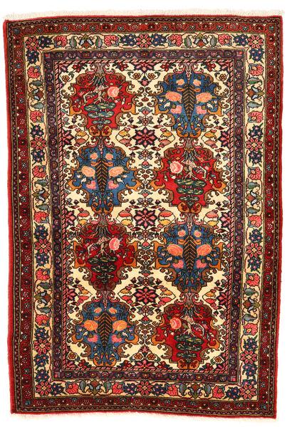 Bakhtiar Collectible Matto 108X157 Itämainen Käsinsolmittu Tummanruskea/Tummanpunainen (Villa, Persia/Iran)