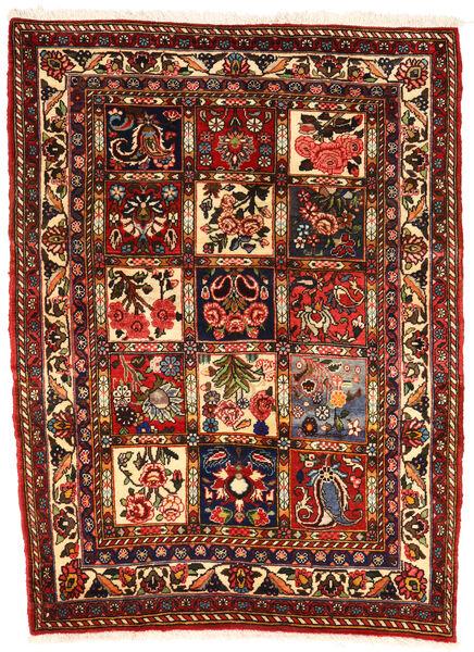 Bakhtiar Collectible Matto 107X143 Itämainen Käsinsolmittu Tummanruskea/Tummanpunainen (Villa, Persia/Iran)