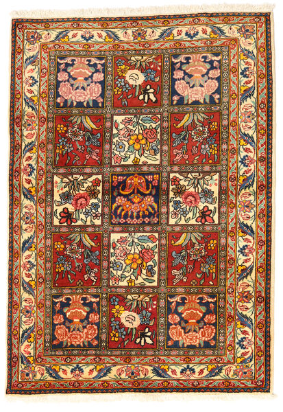 Bakhtiar Collectible Matto 108X155 Itämainen Käsinsolmittu Tummanruskea/Punainen (Villa, Persia/Iran)