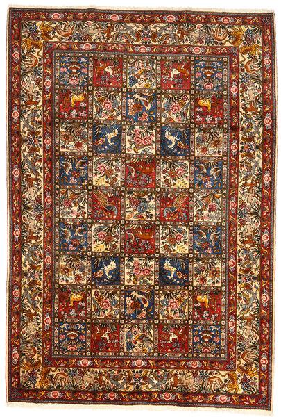 Bakhtiar Collectible Matto 209X304 Itämainen Käsinsolmittu Tummanpunainen/Tummanharmaa (Villa, Persia/Iran)